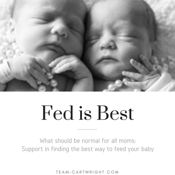 Fed Is Best: Our story