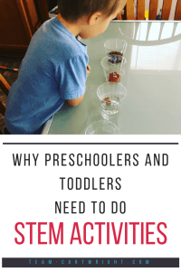 Why should you bother to do science with preschoolers? It isn't like they are going to understand higher level concepts.  But these activities are so important for kids. Learn why these activities are so good for little ones to do! #preschool #STEM #science #activities #development #positive #parenting Team-Cartwright.com