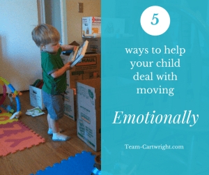 5 Ways to emotionally help your child deal with moving.