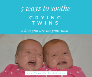 How to soothe crying twins. What to do when twin babies cry. 5 ways to help calm twins.