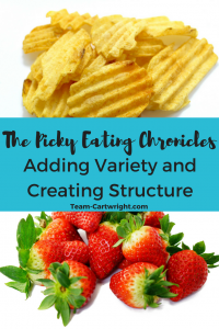 Solving Picky Eating in toddlers and preschoolers by adding variety and creating structure.