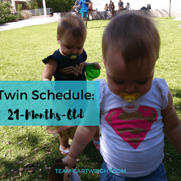 21-Months-Old Twin Schedule