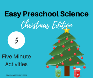 Looking for some easy science projects to do with your kids this holiday season? I have 5 projects that take less than five minutes to set up. Enjoy some STEM this Christmas! #preschool #STEMkids #Christmasactivity