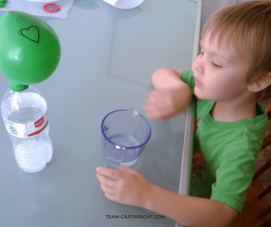 Easy Preschool Science: Make the Grinch's Heart Grow Three Sizes!