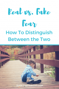 Real vs. Fake Fear: How To Distinguish Between the Two. Is your child expressing fears, but you aren't sure if they are really afraid or if something deeper is going on? I can help you out. #toddler #preschooler #handlingfear