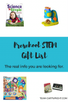 Looking for STEM gifts for your preschooler that they can play with alone? Or that can take a beating? This is the real list you need. #STEM #preschool #Giftlist