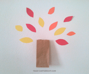 Thankful Trees: An easy and fun way to teach your children about gratitude. This is a great Thanksgiving tradition to keep going the whole month. #thankful #thankfultree #gratitude #teachinggratitude #kids #toddlers #preschoolers #thanksgiving #thanksgivingtradition Team-Cartwright.com