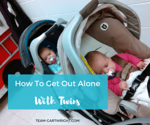 Tips to get out of the house with your twin on your own. #twins