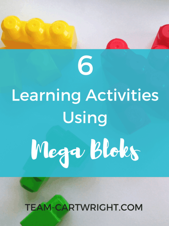 6 Learning Activities Using Mega Bloks. #learningactivity #toddler #preschool