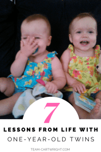 Giggling toddler twins. 7 Lessons From Life with One-Year-Old Twins #toddler #twins