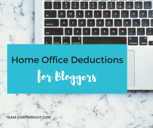 How to determine if you qualify for and how to calculate home office deductions for bloggers. #blog #bookkeeping #smallbusiness #taxes