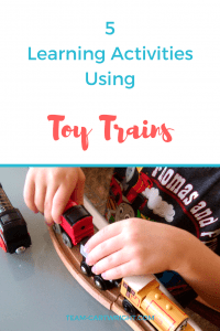 5 Learning Activities Using Toy Trains #toy #trains #learning #activity #sight #words #numbers #counting