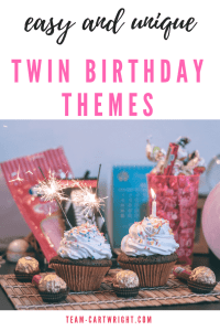 Easy and Unique Twin Birthday Themes!  Looking for something besides the normal for your twin's birthday theme?  But still want it to be easy?  Here are 10 ideas to consider. Easy, fun, and not what everyone else is doing. #twin #twinbirthday #birthday #birthdaytheme #birthdayparty #partyideas #twinparty Team-Cartwright.com