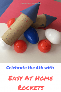 Make easy and safe rockets, perfect for toddlers and preschoolers. Celebrate the 4th of July with STEAM! #preschoolstem #fourthofjulycraft #fourthofjulySTEM #4thofjulyscience #July4thcraft #toddlerSTEAM #preschoolSTEAM #homeschoolSTEAM #holidayscience #summerscience #toddlerlearning #preschoollearningSTEM Team-Cartwright.com