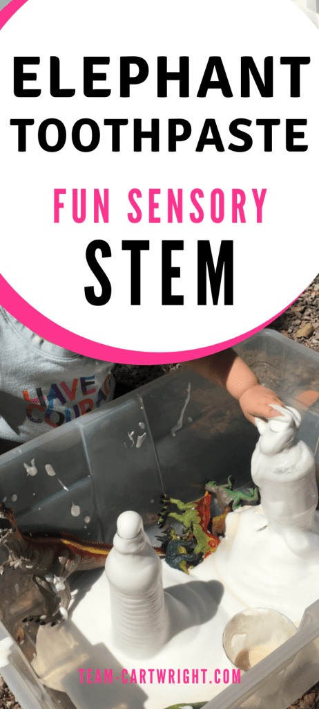 Elephant toothpaste fun sensory STEM for kids