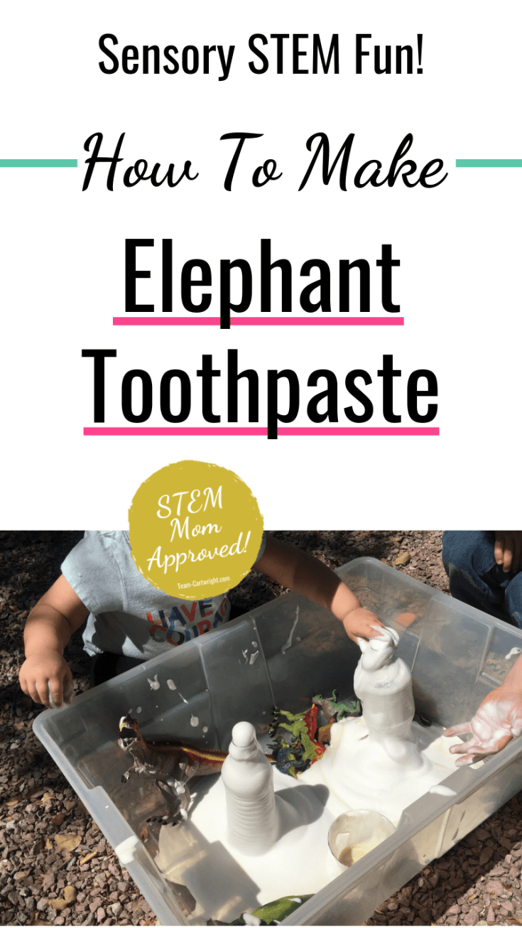 Looking for a fun sensory STEM activity that will wow your kids? Learn how to make elephant toothpaste! This simple chemical reaction uses at home ingredients to create a big impact.  Exploding foam is perfect for playing and learning!