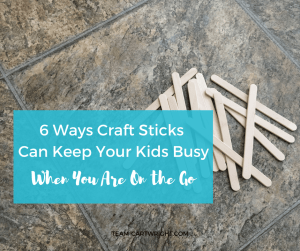 Lazy Mom Hack: Craft sticks are the perfect on the go activity. Pack some in your purse and your children can be entertained anywhere. Here are 6 easy learning activities for busy on the go families using craft sticks. Toddler Activities | Preschooler Activities | Learning Activity | No Prep Activity | Easy Learning | Lazy Mom Hack | Travel Activity for Kids #learningactivities #preschool #toddler #kid #STEMactivity #noprepactivity #travelactivity #craftsticks #kidcraft Team-Cartwright.com