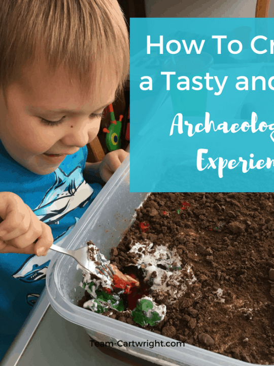 Sensory STEM fun with a tasty archaeological dig. Use Jell-O to create a science project your kids can eat! #STEMactivity #scienceathome #toddlerlearning #preschoollearning #homeschool #birthdaypartyactivity #kidcraft Team-Cartwright.com