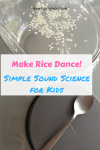 Make Rice Dance! Use sound waves to make rice move. Easy sound science with at home items. #science #sound #learning #activity #preschool Team-Cartwright.com