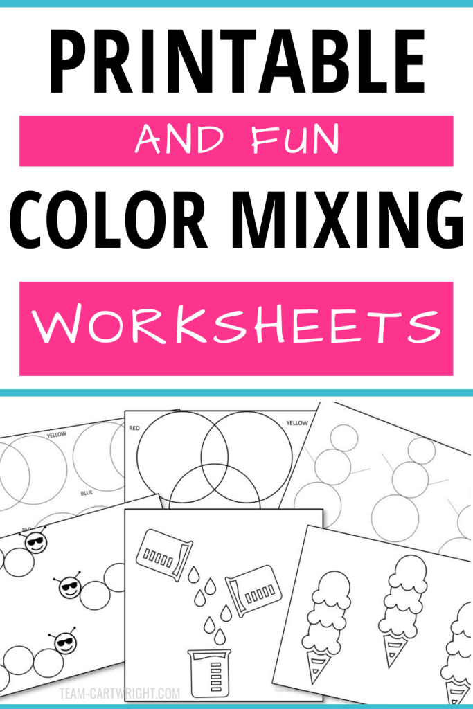 Printable and fun Color Mixing Worksheets