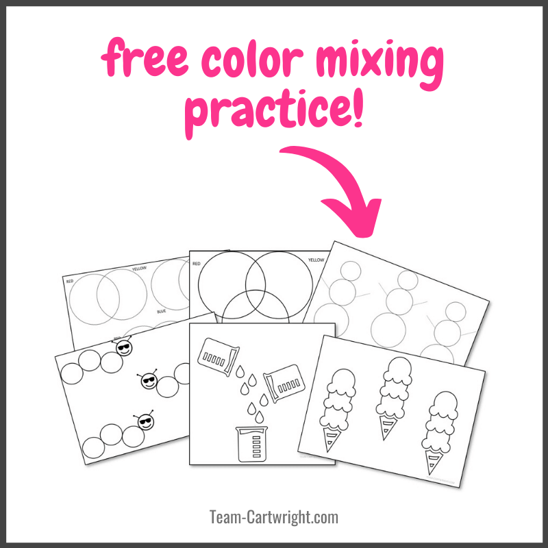 free color mixing practice worksheets