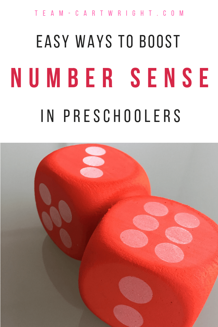 Number sense is so important for future math success. But what exactly is it? And how do you help your kids learn it? Here is what number sense means and super easy ways to boost it in your children. #number #sense #math #learning #activity #game #toddler #preschooler #kids Team-Cartwright.com