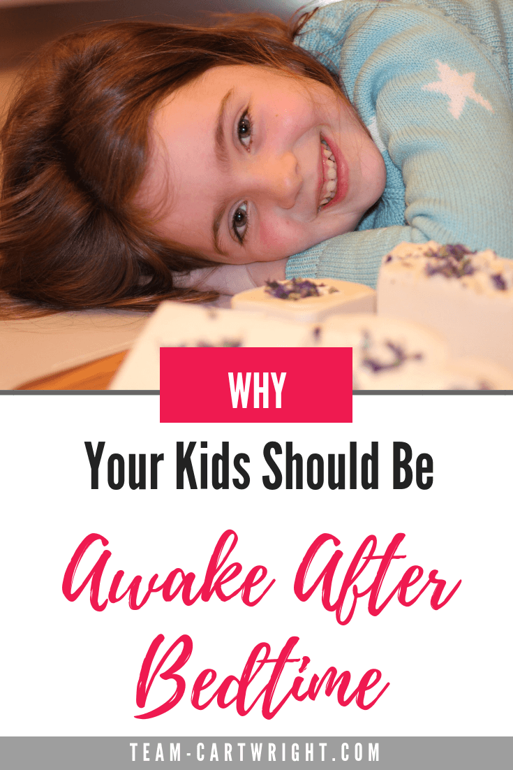Do you put your child to bed only to have them  not fall asleep right away?  Good! There are some real benefits to your child being in bed but awake. Learn why this is special time is so valuable to kids. #Bedtime #KidsSleep #ToddlerSleep #AwakeInBed #PositiveParenting #EmotionalDevelopment #BedtimeTroubleShooting #StayInBed #SleepTips Team-Cartwright.com