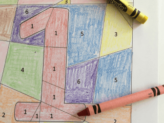 7 Big Benefits of Coloring for Kids. Learn why simple coloring is so beneficial to children's physical and emotional development. Plus grab some free coloring pages to boost number sense and coding concepts! #coloring #pages #free #learning #activity #mental #physical #development #toddler #preschooler #kid Team-Cartwright.com