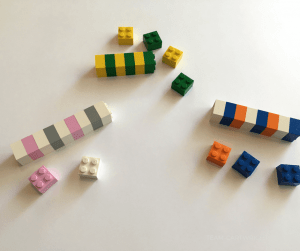 42 LEGO Crafts and Activities for Kids for Endless Fun featured by top US lifestyle blogger, Marcie in Mommyland: Practice pattern recognition with Legos. Start basic coding concepts with toddlers, preschoolers, and kids. #coding #Lego #pattern #activity #STEM #learning #activity Team-Cartwright.com