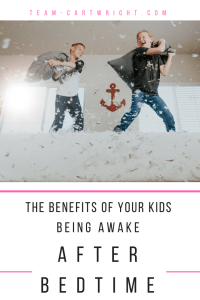 The benefits of your kids being awake after bedtime. Keep the early bedtime and give your kids the gift of imagination time. #sleep #kids #bedtime #preschooler #babywise Team-Cartwright.com