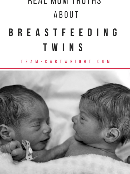 Real mom truths about breastfeeding twins. What it really feels like to breastfeed two babies at once. #breastfeeding #twins #baby #mom #tips #advice #newborn Team-Cartwright.com