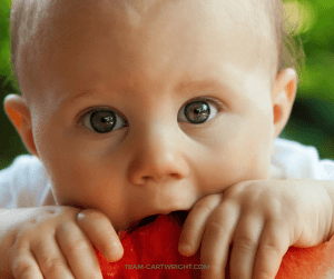 Baby Led Weaning and Twins- it is possible! Learn how to use BLW with your twin. #solids #BLW #baby #led #weaning #twins #eating Team-Cartwright.com