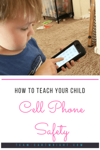 How to teach your child to use a cell phone safely. An easy and fun activity to teach your child their phone number. #cell #phone #safety #kids #911 #emergency #preschool #toddler Team-Cartwright.com