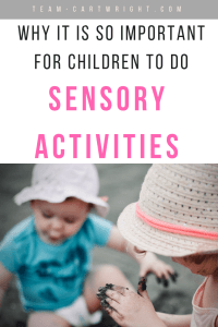 Let your kids get dirty! Let them touch the dirt and squish in the mud. These are easy no prep sensory moments that are so good for their development. Learn all the big benefits of sensory play and get some super easy sensory activities you can do right now. #sensory #play #activity #learning #mental #physical #emotional #development #kids #toddler #preschooler Team-Cartwright.com