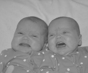 The witching hour. That frustrating time when your baby just won't settle. And with twins, well, it's tough. Here is how to survive the witching hour with twins. #twins #newborn #baby #witching #hour #soothe #crying #calming Team-Cartwright.com
