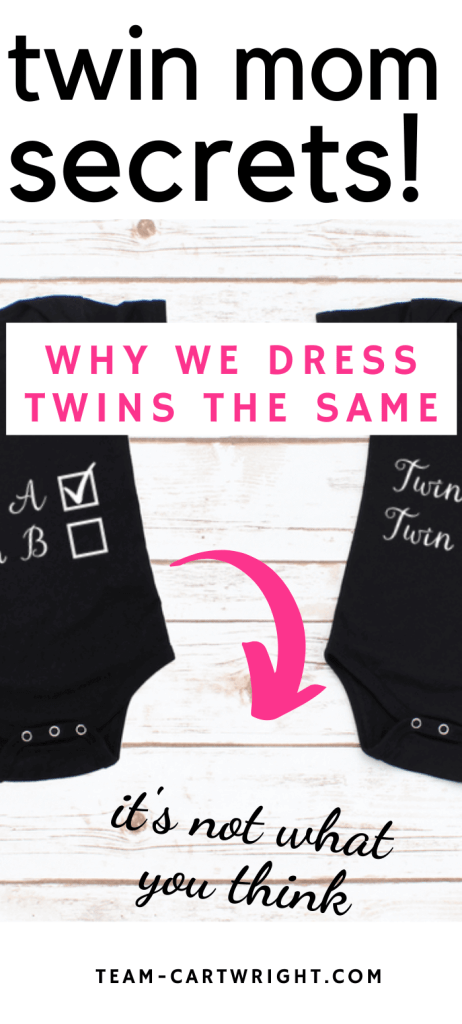 twin mom life why we dress our twins the same