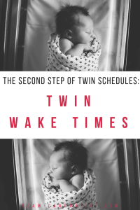 Wake your twins up. Seriously. The best way to get them on a schedule is to wake them up to eat. Here is step two to getting your twins on a solid schedule. #twins #newborntwins #twinschedule #waketimes #bedtimeroutine #twinsleep #babywise #babywiseschedule #schedule Team-Cartwright.com