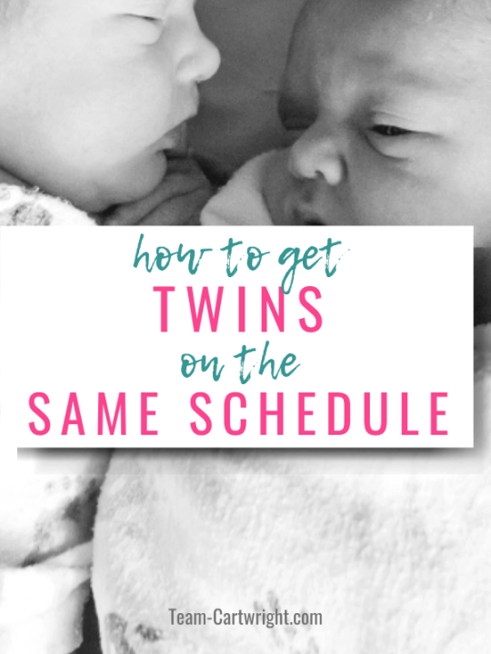 how to get twins on the same schedule