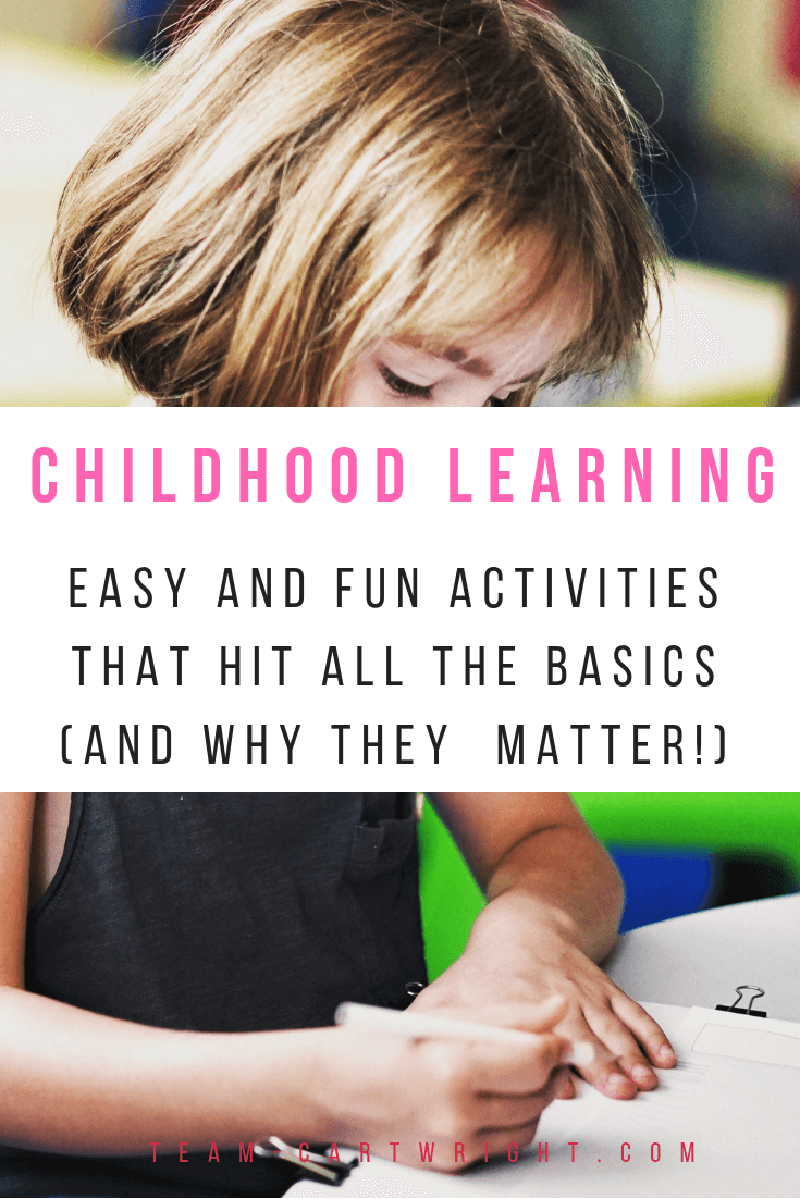 Why do we teach kids about shapes, colors, numbers, and more? Do they really matter that much? Yes! Learn why these basics are so important and get easy fun activities to help with each. #shapes #colors #letters #numbers #earlylearning #toddler #preschooler #development #learningactivities Team-Cartwright.com