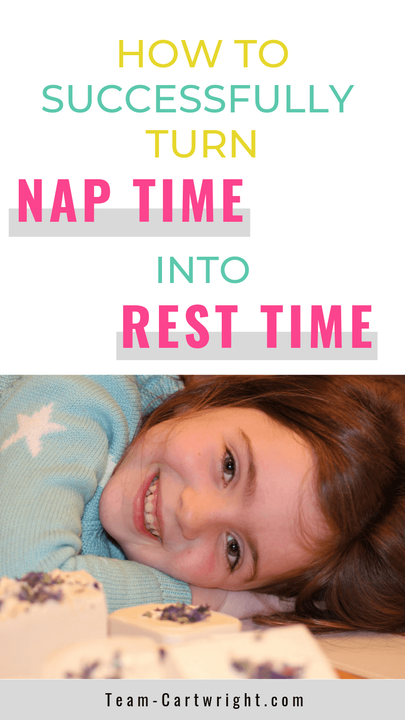picture of a smiling child and text How To Successfully Turn Nap Time into Rest Time