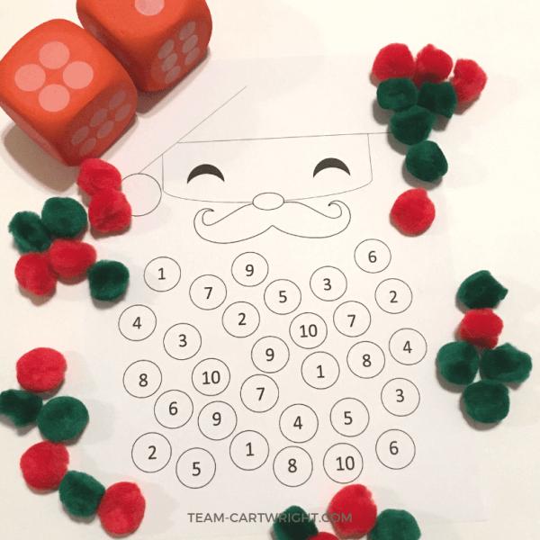 Christmas Counting Worksheet: Santa Math Fun!