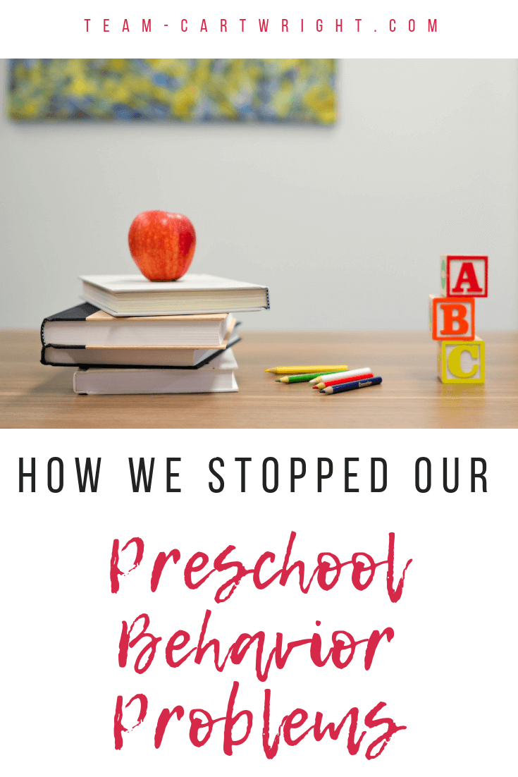If your child is getting into trouble in preschool, it does not mean they are a bad kid. Help them take back ownership of their behavior and end disruptions with this simple behavior chart. A reward chart that works and ends the cycle of yelling. #Preschool #PreschoolDisruptions #PreschoolBehavior #BehaviorManagement #Timeouts #Discipline #RewardChart #BehaviorChart #PositiveParenting Team-Cartwright.com