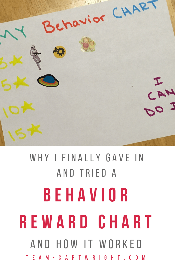 Learn how we handled preschool behavior problems. Timeouts didn't work, punishment didn't work. But we were finally able to manage disruptive behavior with a simple sticker chart. (And I hate sticker charts!) Get the simple preschool behavior solution that worked for us. #PreschoolBehavior #BehaviorManagement #PreschoolDisruptions #Timeouts #Discipline #RewardChart #StickerChart #PositiveParenting Team-Cartwright.com