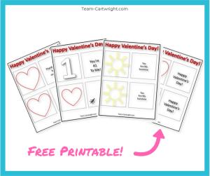 Free printable thaumatrope Valentines for kids! Grab this printable and make an amazing optical illusion with your kids! #Thaumatrope #ValentineSTEM #HomemadeValentine #LearningActivity #FreePrintable Team-Cartwright.com