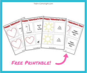 Free printable thaumatrope Valentines for kids! Grab this printable and make an amazing optical illusion with your kids! #Thaumatrope #ValentineSTEM #HomemadeValentine #LearningActivity #FreePrintable Team-Cartwright.com