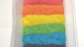 Colored Rice and Other Rainbow Sensory Bin Ideas