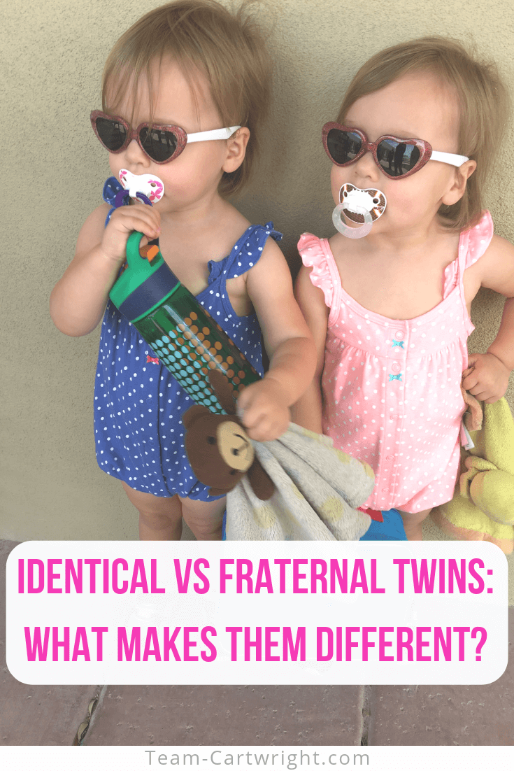 Identical vs Fraternal Twins: What makes them different? Learn how twins are conceived and what makes identical and fraternal twins different. Plus learn rare, but interesting types of twins you might have never heard of! #TwinFacts #Twinning #TwinPregnancy #TwinTips #IdenticalTwins #FraternalTwins Team-Cartwright.com