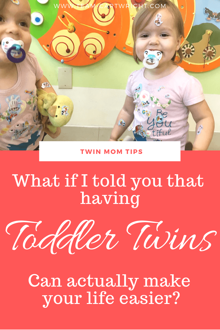 Did you know having toddler twins could make your life easier? Well, maybe not easier. But better, 100% better. Here are the best ways having twin toddlers is making me a better mom. #TwinToddlers #TwinTips #TwinMom #Twins Team-Cartwright.com