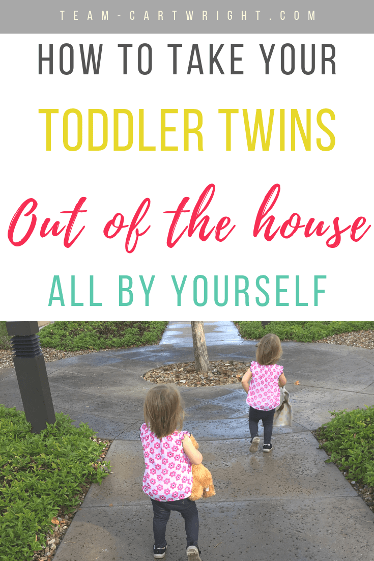 Toddlers running with text overlay how to get toddler twins out of the house all by yourself