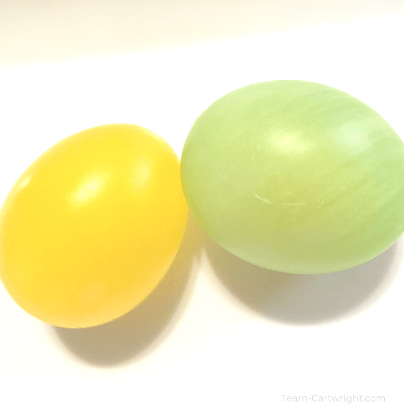 picture of yellow and green easter eggs